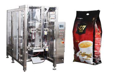 automatische Vierersiegelbeutelverpackungsmaschine volumetrische Schalenfüllmaschine