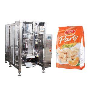 Volle automatische Nahrungsmittelviererkabel-Dichtungs-Beutel-Verpackungsmaschine