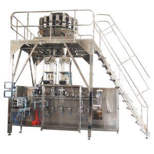 Horizontale vorgefertigte Verpackungsmaschine mit Multihead Skalen für Granulate