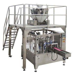 Dreh Automatische Reißverschlusstasche Fill Seal Packmaschine Für Samen Nüsse
