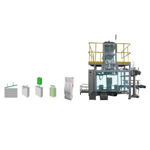 Sekundärverpackungsbeutel in der polywoven Beutel-Verpackungsmaschine